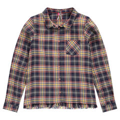 Junior - Checkered shirt with fringes