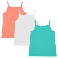 Set of 3 plain-colored tank tops