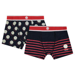 Set of 2 pairs of ©Smiley cotton boxer shorts