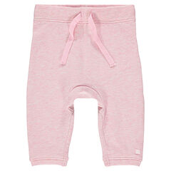Plain-colored fleece pants for newborns