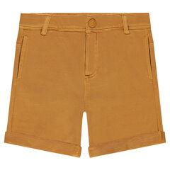 Overdyed, fleece bermuda shorts