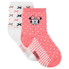 Set of 2 pairs of socks with Disney Minnie Mouse motif