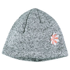 Microfleece-lined twisted knit cap