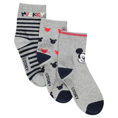 Lot de 3 paires de chaussettes assorties motif ©Disney Mickey