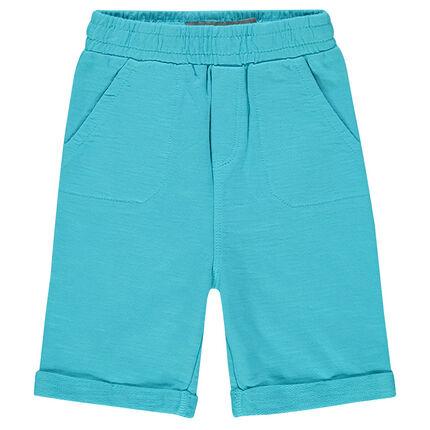 Slub fleece bermuda shorts