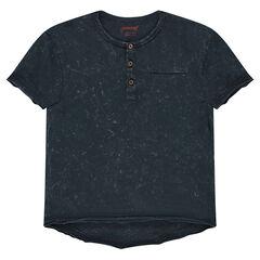 Junior - Tee-shirt manches courtes surteint col tunisien