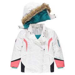 Junior - Ski jacket with a removable hood and fake fur