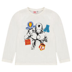 Long-sleeved tee-shirt with Marvel Iron Man print