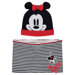 Sherpa-lined ©Disney Minnie Mouse beanie and scarf ensemble