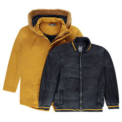 Junior -  2-in-1 sherpa-lined parka with built-in bomber jacket