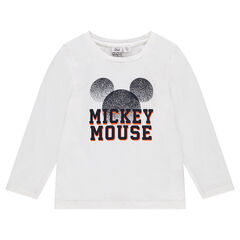 Long-sleeved tee-shirt with Disney Mickey Mouse print
