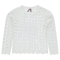 Junior - Openwork knit sweater
