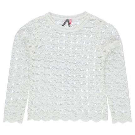 Junior - Openwork knit sweater