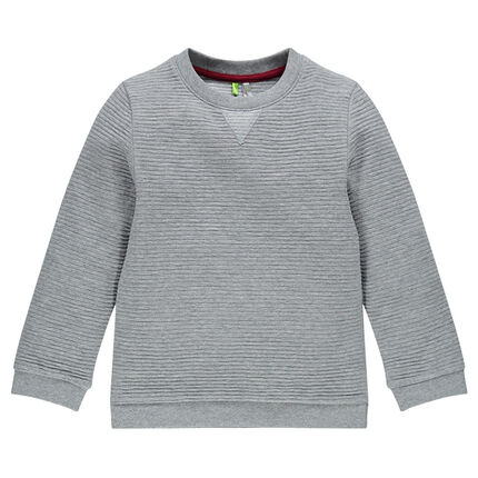 Heather gray ottoman sweat shirt