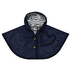 Hooded windbreaker cape