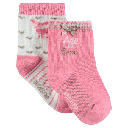 Lot de 2 paires de chaussettes assorties