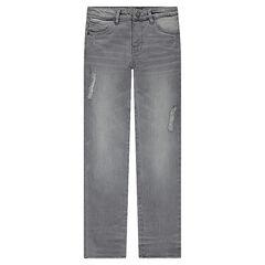 Junior - Slim fit jeans with decorative tears