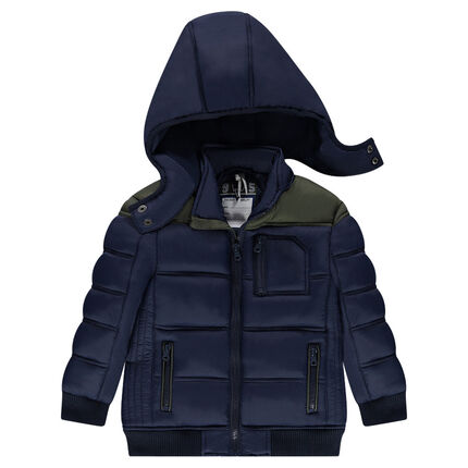 Quilted coat with microfleece lining