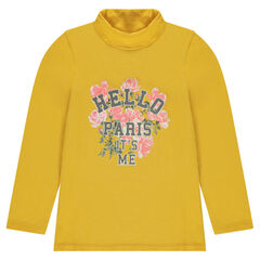 Junior - Thin turtleneck sweater with print