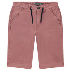 Junior - Overdyed twill bermuda shorts with
