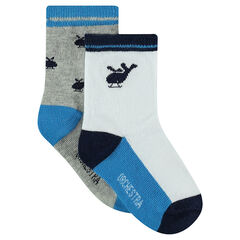 Set of 2 pairs of assorted socks with helicopter motifs