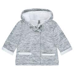 Sherpa lined fleece hooded coat
