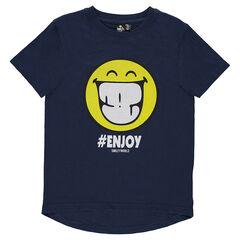 Junior - Short-sleeved tee-shirt featuring ©Smiley print