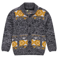 Junior - Knit cardigan with jacquard motif