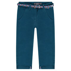 7/8th chino trousers with removable printed belt