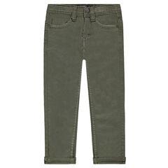 Slim fit muslin pants