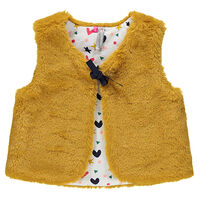 Faux fur vest lined with jersey