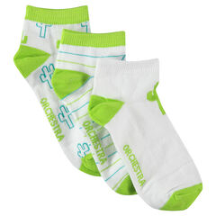 Set of 3 pairs of assorted socks with cactus motif