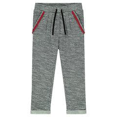 Loose pants in fancy fleece