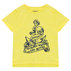 Short-sleeved jersey tee-shirt with an anchor print