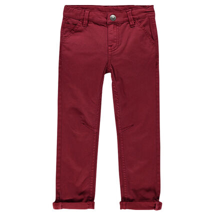 Slim-cut, twill pants with pockets