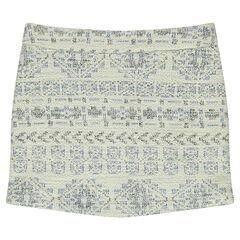 Junior - geometric print jacquard skirt