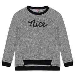 Junior - Fleece sweatshirt with sequined message