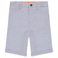 Cotton bermuda shorts with pockets
