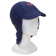 Anti-UV SPF 50+ printed cap with nape flap