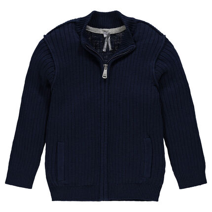 Junior - Slub knit ribbed jacket