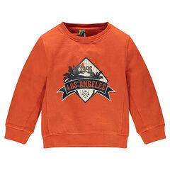 "Light fleece sweatshirt with ""Los Angeles"" print"