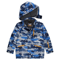 Junior - Ski Jacket Graphic Pattern Lined Microfleece