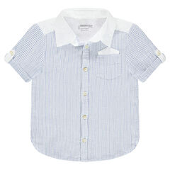 Short-sleeved cotton shirt with a pocket