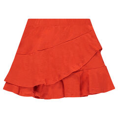 Frilled jersey skirt