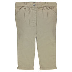 Chino-style, canvas 3/4 pants