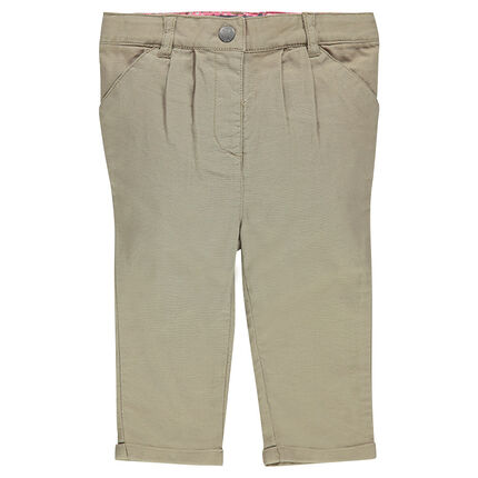 Chino-style, canvas 3/4 pants