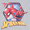 Fleece sweatshirt with a ©Marvel Spiderman print and mask-effect hood
