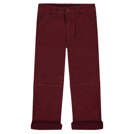 Microfleece-lined muslin pants