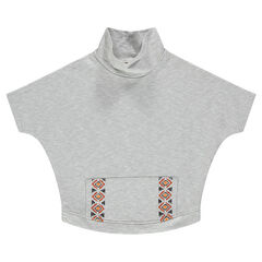 Junior - Poncho sweatshirt with ethnic embroidery