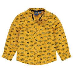 Jersey-lined overshirt with an allover ©Warner Batman print